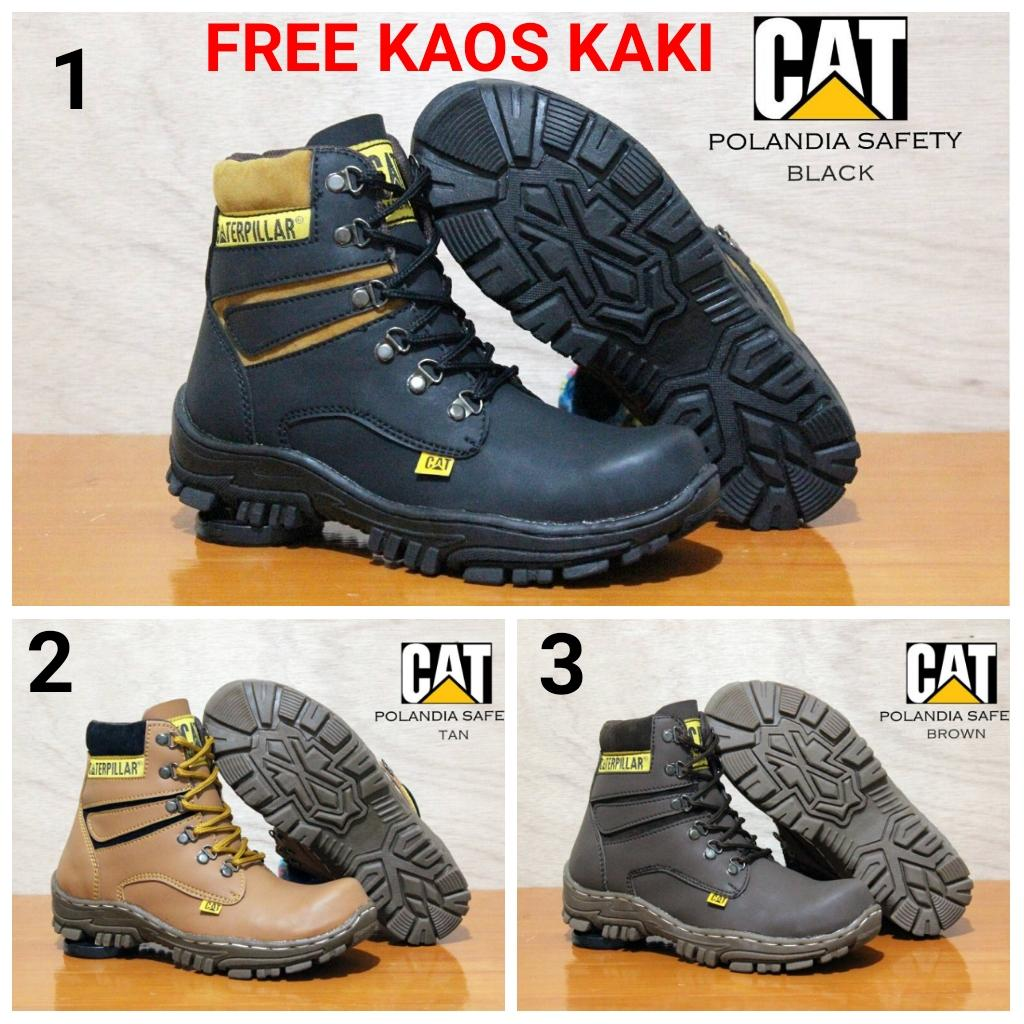 Sepatu Boots Cat Polandia Safety Kerja Lapangan