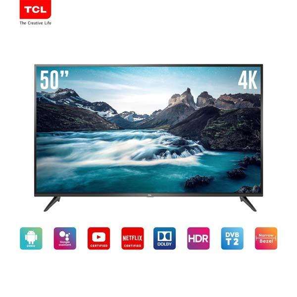 TCL LED TV 50 inch UHD 4K-Smart TV-WiFi-Netflix/Youtube-HDMI/USB- Dolby sound (model 50E3)