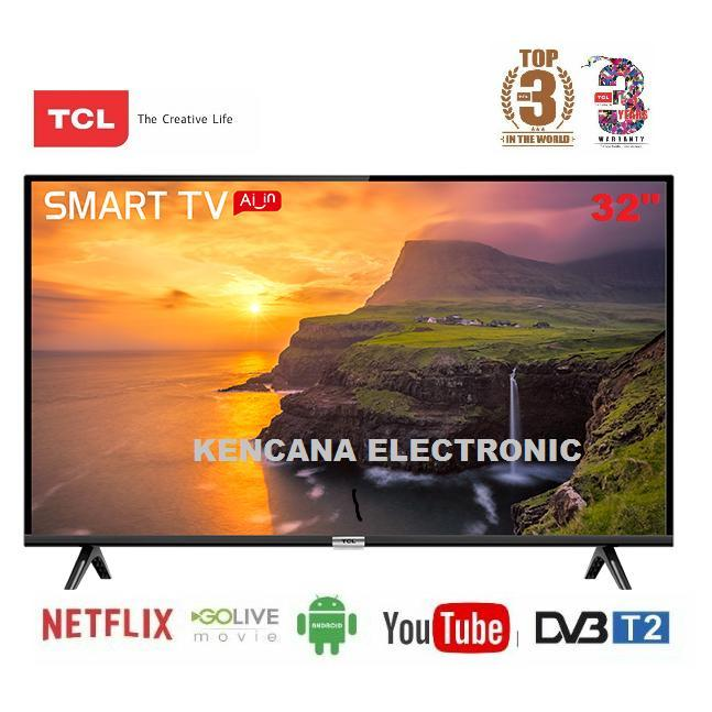 TCL L32S6800 LED TV 32 Inch DIGITAL &SMART ANDROID TV-WIFI-FREE ONGKIR Khusus JABODETABEK