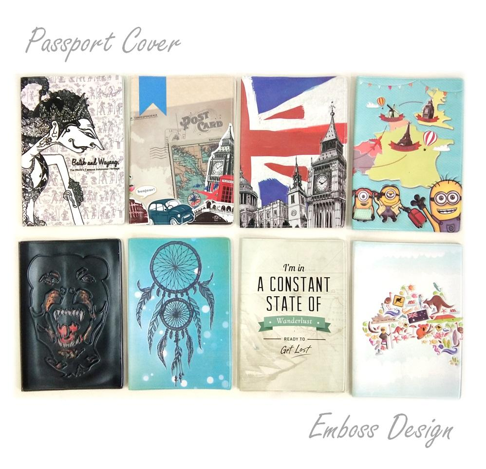 Sampul Paspor Eksklusif Emboos Design Passport Cover - High Quality By Home Shopping Online.