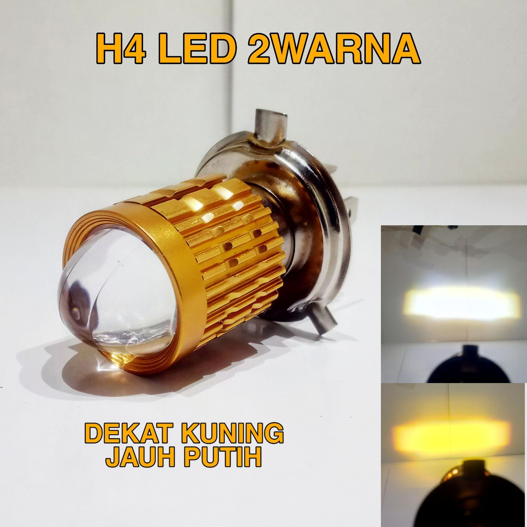 Lampu Motor Led H4 Laser 2 Warna Hi Low