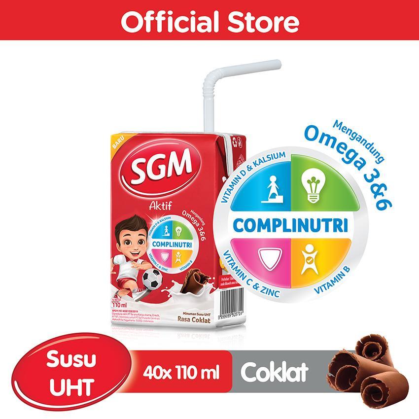Sgm Aktif Susu Uht Rasa Coklat 110ml - Karton Isi 40 Pcs By Lazada Retail Sgm.