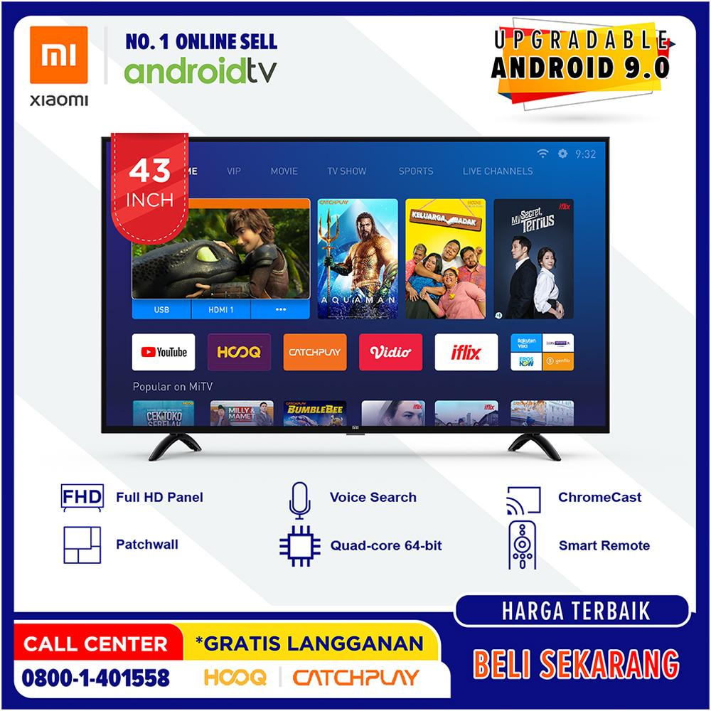 [GRATIS ONGKIR] Xiaomi MI LED TV 43 inch - Android Smart TV - Patchwall -  Wifi - Full HD - USB/HDMI (Model : 4A43)