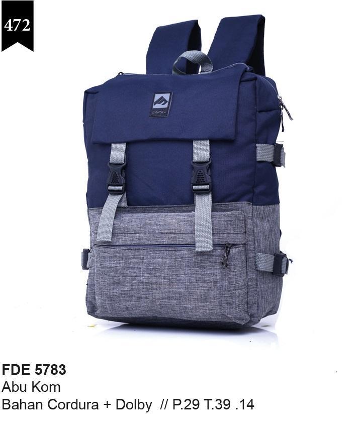 Garsel Fashion Tas Sekolah Anak Laki-Laki Abu Komb - FDE 5783 - GRATIS ONGKIR