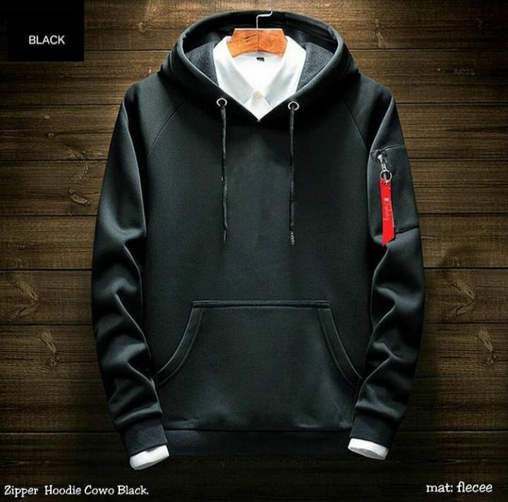 Sweater Hoodie Model Ariel With Zipper Polos All Size Baju Sweater ... 7b8f0fcfde