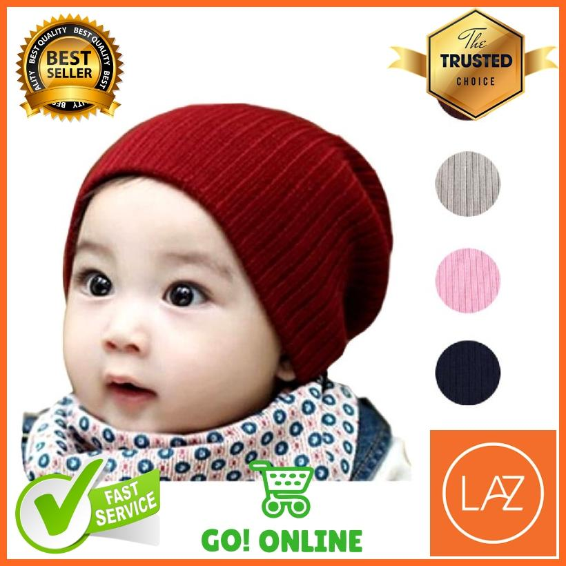 Topi Kupluk Bayi dan Anak Anji Rajut Beanie Wol
