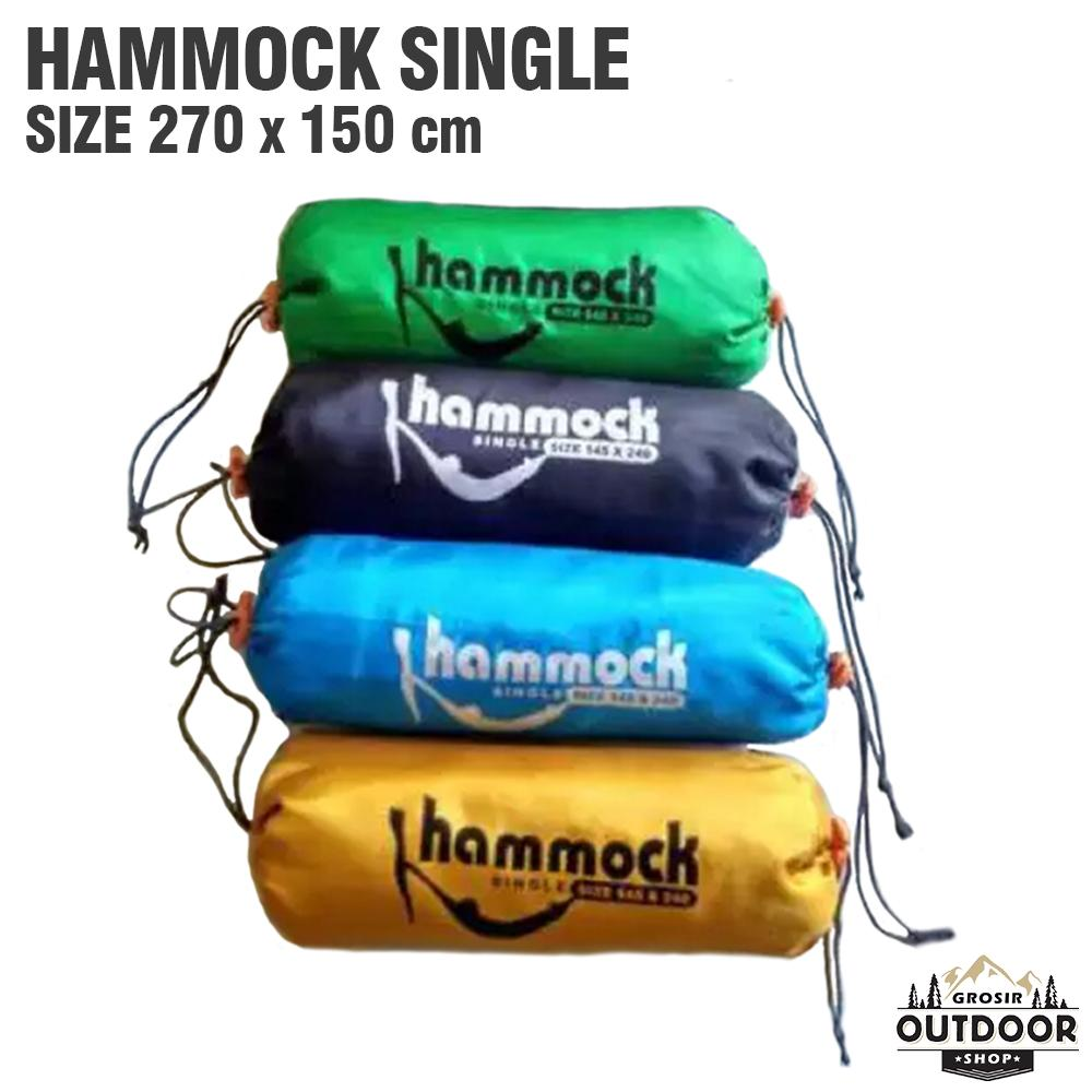 Hammock Single Tempat Tidur Ayunan Gantung - Hamock - Hamok - Hamuk By Outdoor Grosir.