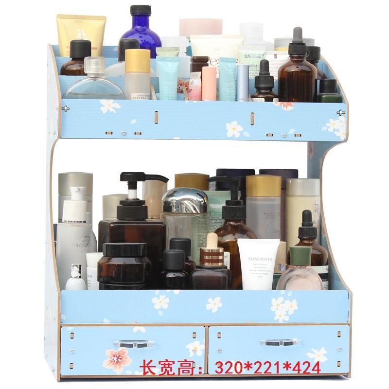 Ukuran besar/L Kayu kotak penyimpanan untuk meja kerja Kosmetik Menyusun Model Laci rak penyimpanan