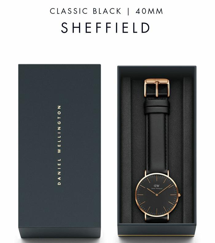 Promo!! Jam Tangan Daniel Wellington Shefield Ori Bm Leather