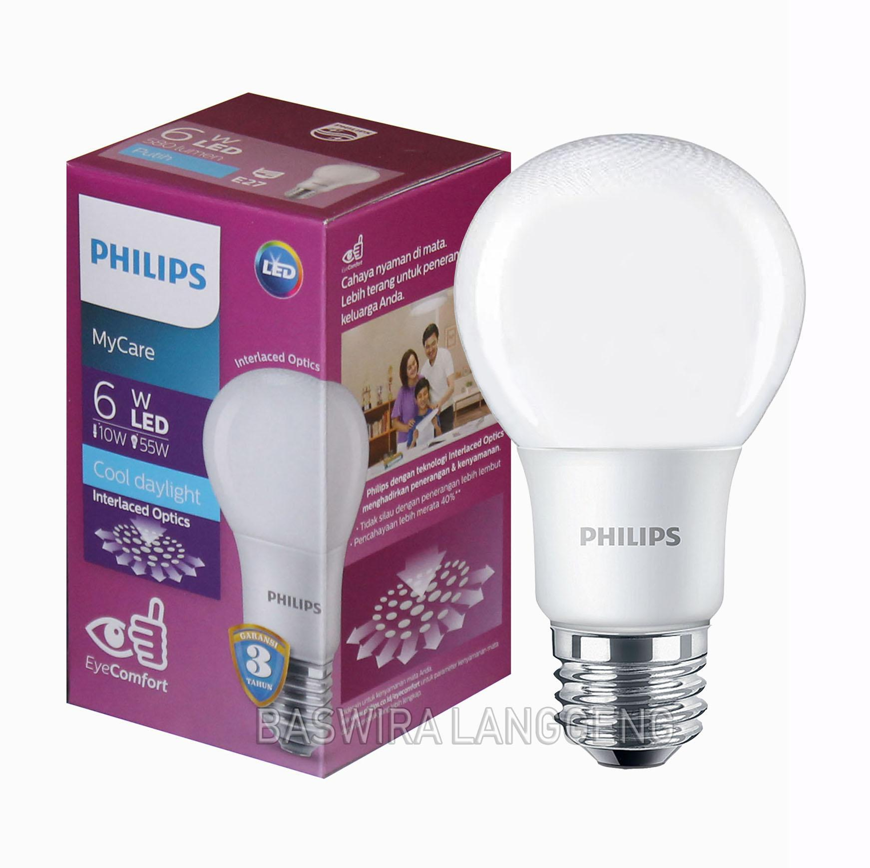 Philips Lampu LED 6 Watt MyCare CDL/Putih E27