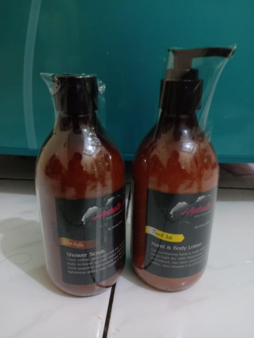 Hydrate.me 2 In 1 Body Lotion Touch Me Dan Hydrate.me Shower Scrub I Love Coffee -Pbts01 By Pbts01.