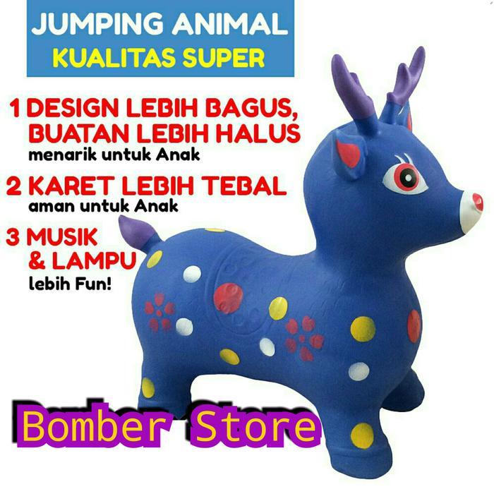 B2b477 New Jumping Animal Musik Kualitas Super - Tunggang Kuda Karet By Bomber Store Official.