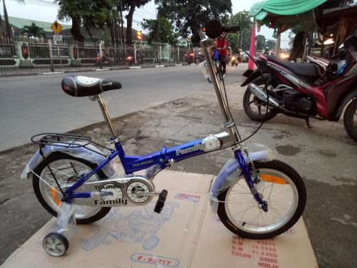 Promo    sepeda lipat 16 anak anak family touring    Termurah