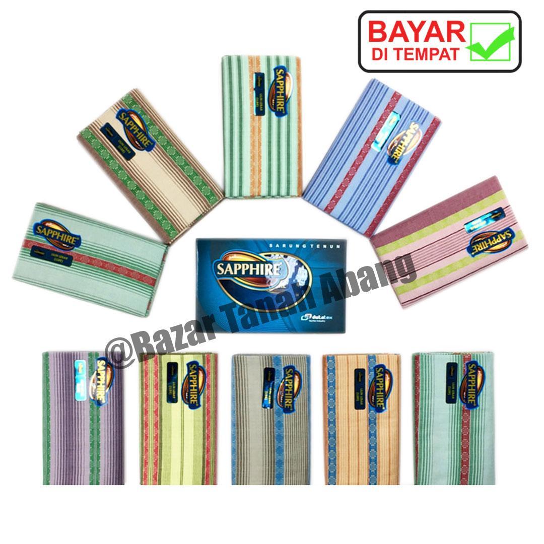 Sarung Tenun Dewasa Sapphire Motif Lilin Besar (LLBR), Bahan Halus dan Lembut (B-SSP001-09) Bazar Tanah Abang