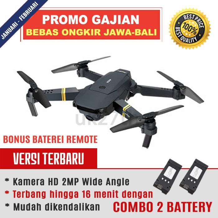 Drone Baby Mavic Eachine E58 S168 Combo 2 Battery Vs Visuo XS809HW - WIFI FPV With 2MP Wide Angle HD Camera Altitude Hold Murah