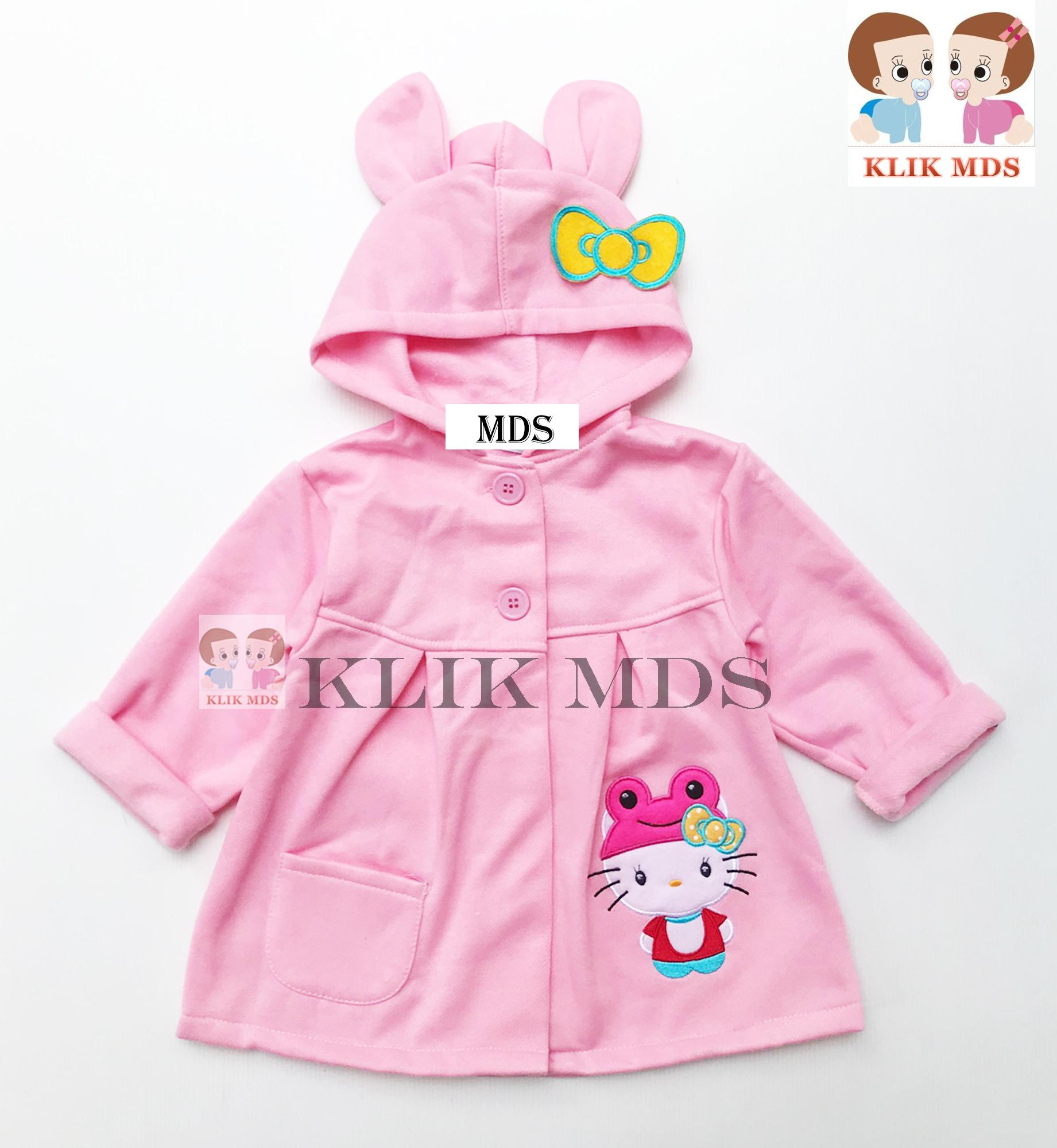 Klik Mds Jaket Hoodie Bayi Perempuan Motif Karakter Hello Kitty / 2 Ukuran By Klik Mds.