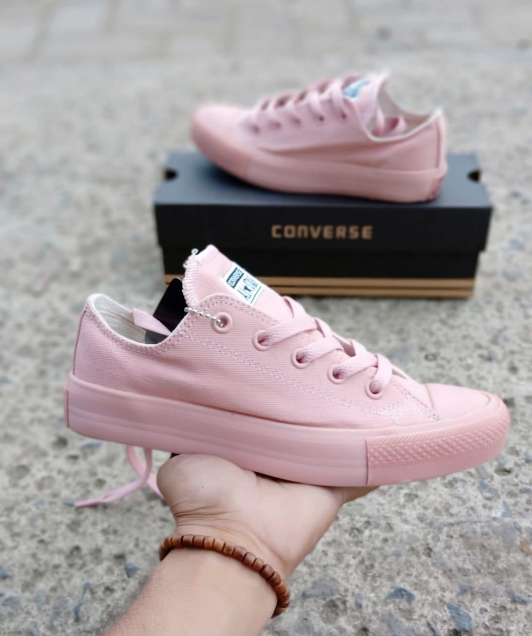Sepatu sneakers conves al star CT peach for woman-sepatu casual-sepatu  sekolah 33ed6a6756