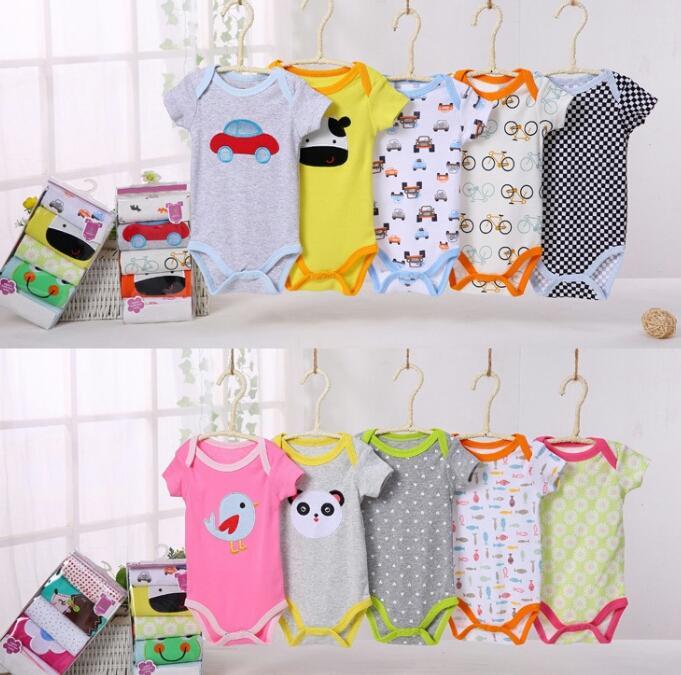Baby Kids 5 Pcs Baju Jumper Bayi Jumsuit Slimsuits Carterblueflay Body Suits Baju Kodok Anak Bayi Lengan Pendek By Baby Kids.