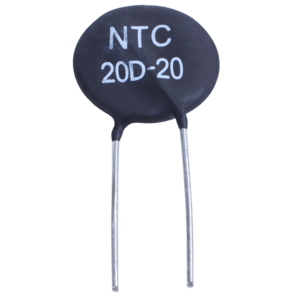 20D-20 NTC Thermistor for limiting of inrush current of power supply ballast CFL,black