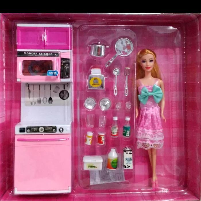Termurah Dan Terlaris Mainan Dapur Modern Kitchen Barbie Pink 818 8 Ada Boneka 28 Cm Sedia Juga Mainan Masak Masakan Beneran Mainan Masak Masakan Besar Lengkap Mainan Masak Masakan Murah Lazada Indonesia