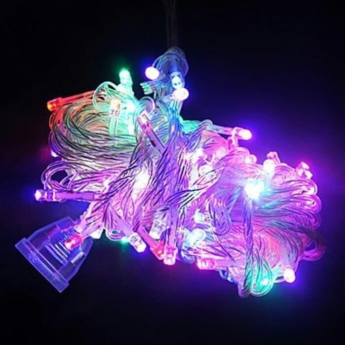 [PAKING FREE BUBBLE] LAMPU TUMBLR RAINBOW 10 METER (100 LED LIGHT) / LAMPU HIAS KLAP KLIP / LAMPU HIAS KAMAR TIDUR / LAMPU HIAS NATAL / LAMPU HIAS DEKORASI / LAMPU HIAS CAFE / LAMPU HIAS RESTORAN