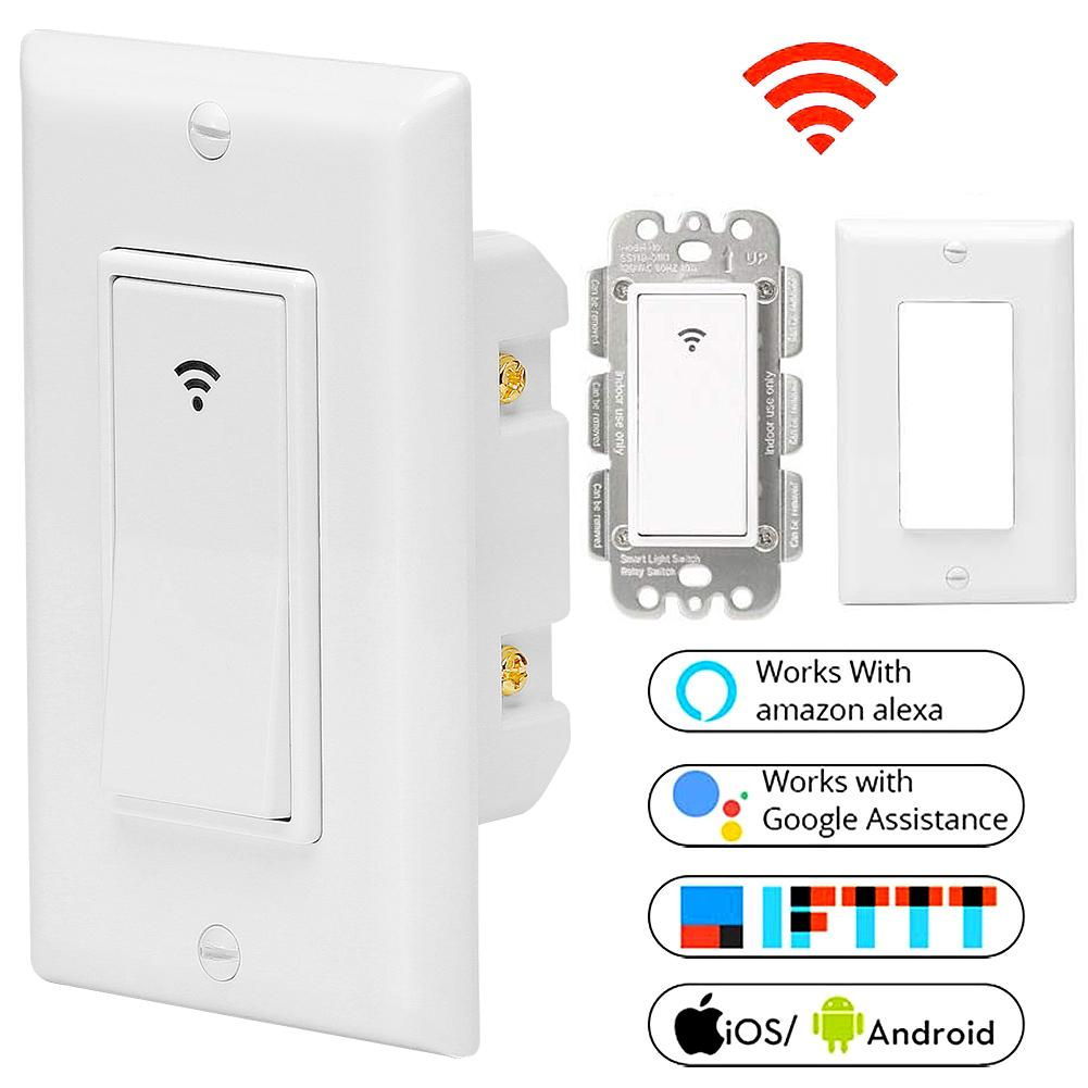RD Intelligent Control Switch Wall Switch for Alexa Google Home APP Intelligent Voice Control System US Plug