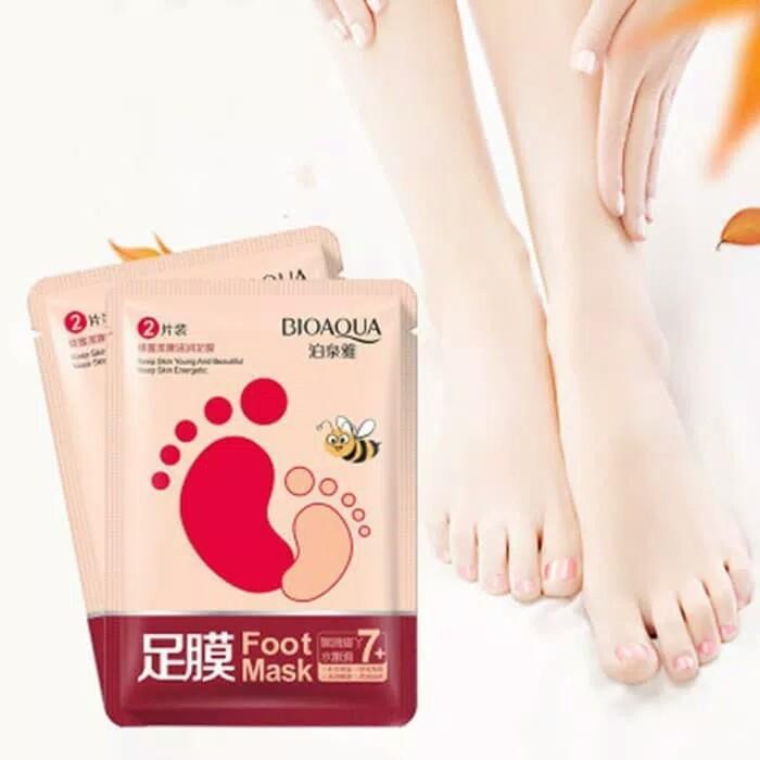 Bioaqua Foot Mask - Masker Kaki -Harga 1 Sachet Isi 1 Pasang By Nona Kosmetik Indonesia.