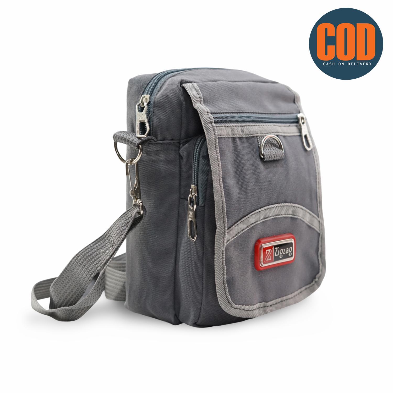 Zigzag konig Tas Selempang Kanvas Pria   Sling Bag   Tas Slempang Cowok    Travel Bag 8a5255c7a3