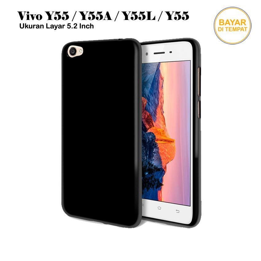 Rp 8.000. Casing Handphone / Softcase Anti Minyak Baby Skin Case Black Matte Ultra Slim Untuk Vivo ...