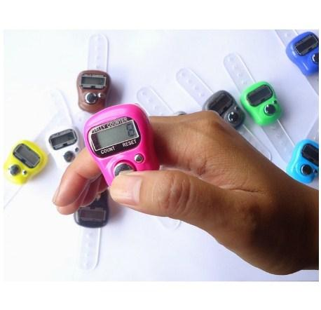 Cincin Tasbih Digital Mini Digital Tally Counter Bukan LED Murah Berkualitas Tasbih Digital Finger Counter Cincin