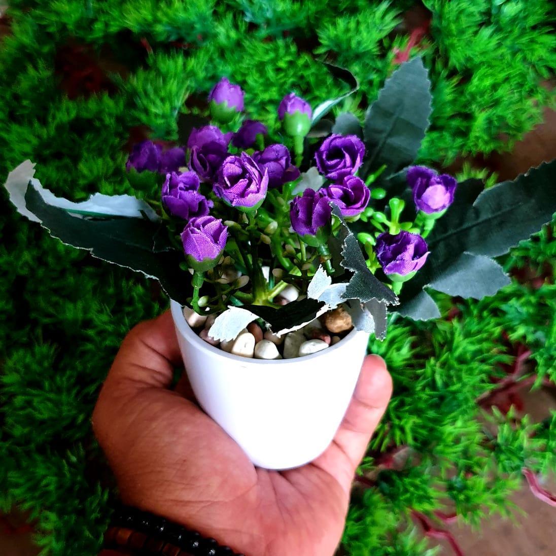 Bunga Rose Mini - Bunga Pajangan - Bunga Hias Plastik - Bunga Tanaman  artifisial Pot Bulat 160e1477e3