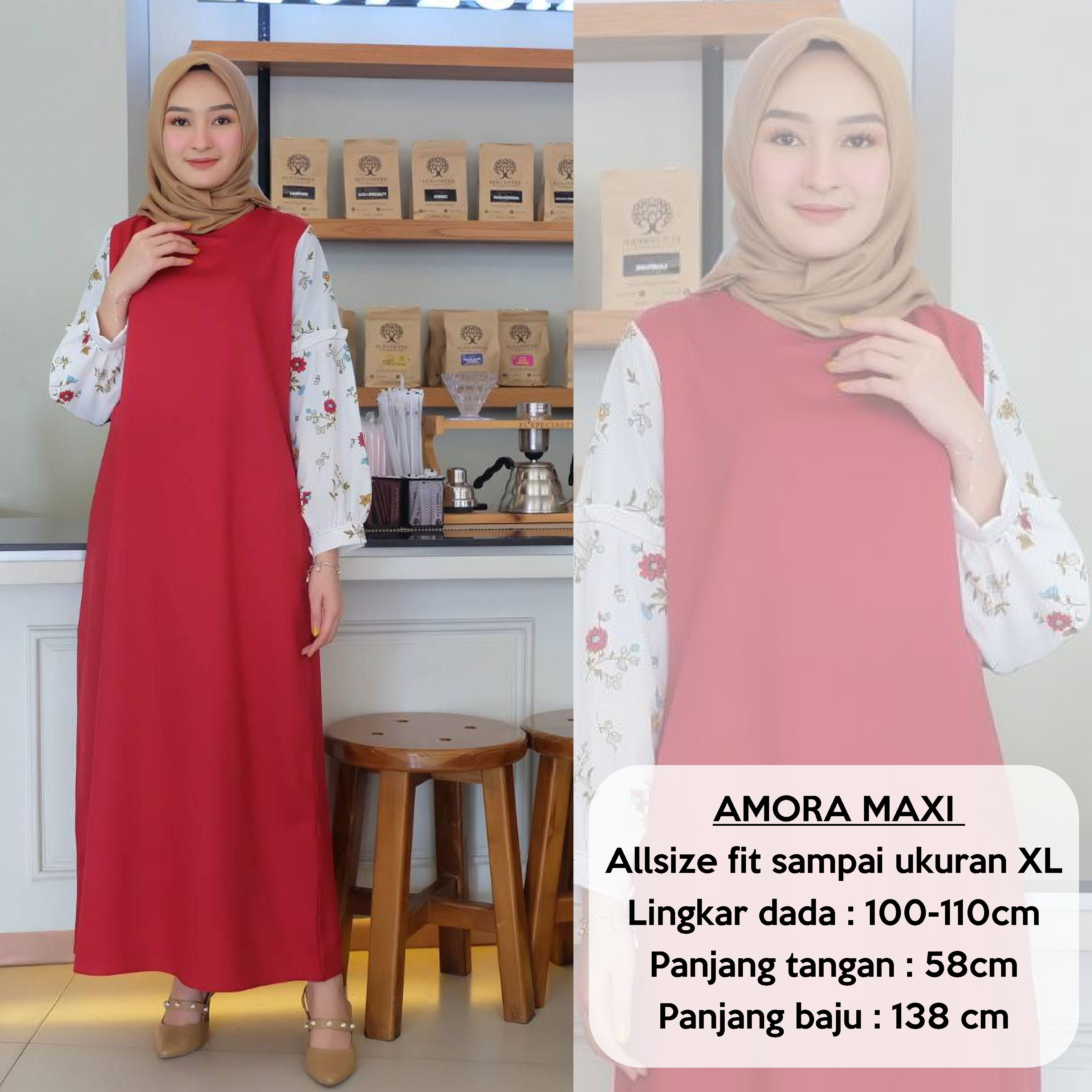 Gamis Remaja Kekinian  Pakaian Muslimah Wanita  Jubah Wanita Terbaru   Fashion Abaya Amora Maxi