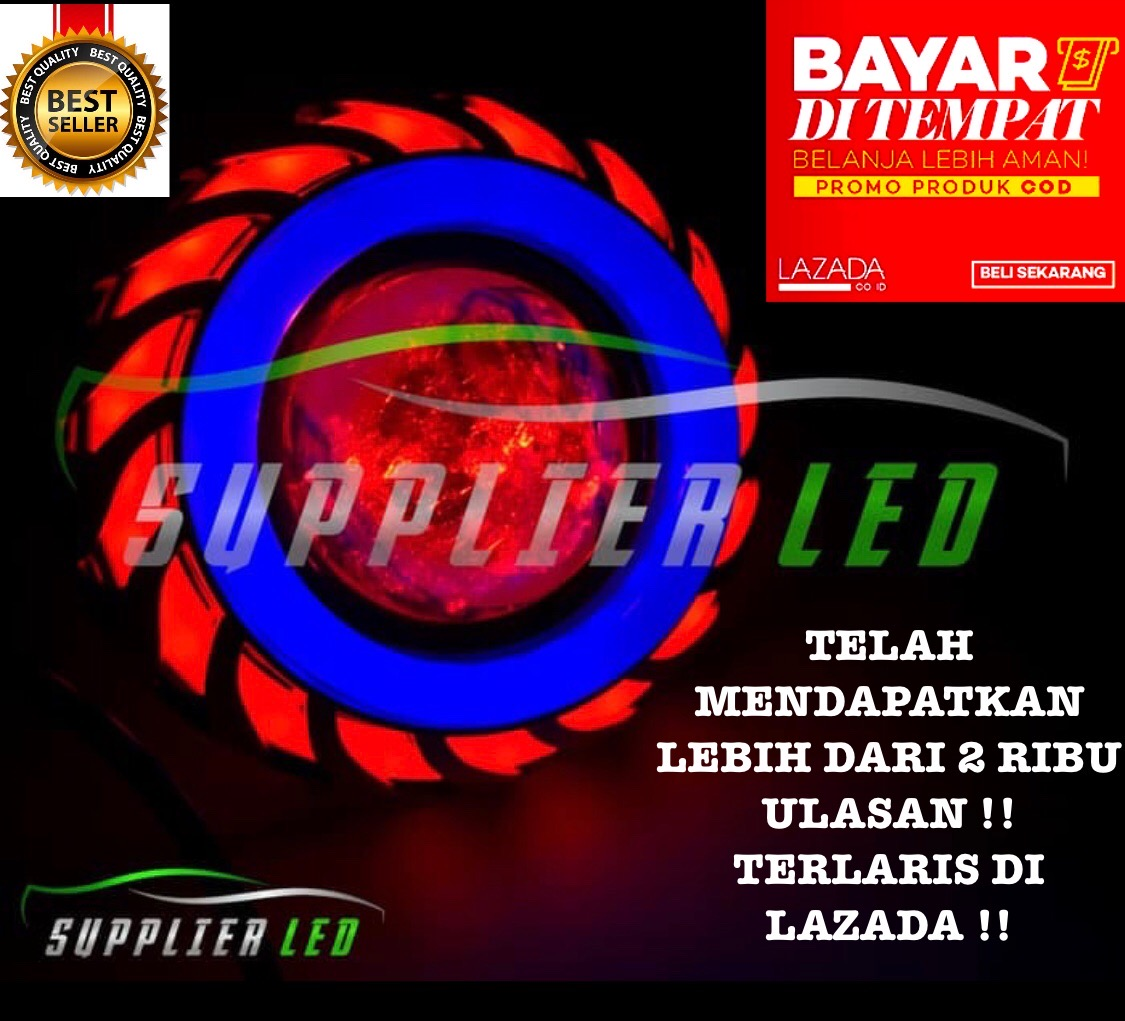 Lampu LED Projie motor tornado double AE+DE (Blue+Red)