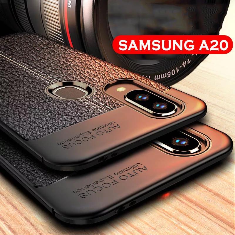 Case Samsung A20 - Softcase Auto Focus Leather Case Samsung A20