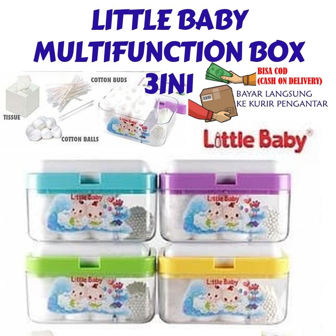 Little Baby Multifunction Box 3in1/ Tempat Kapas Bayi By Mainan Pasir Ajaib.