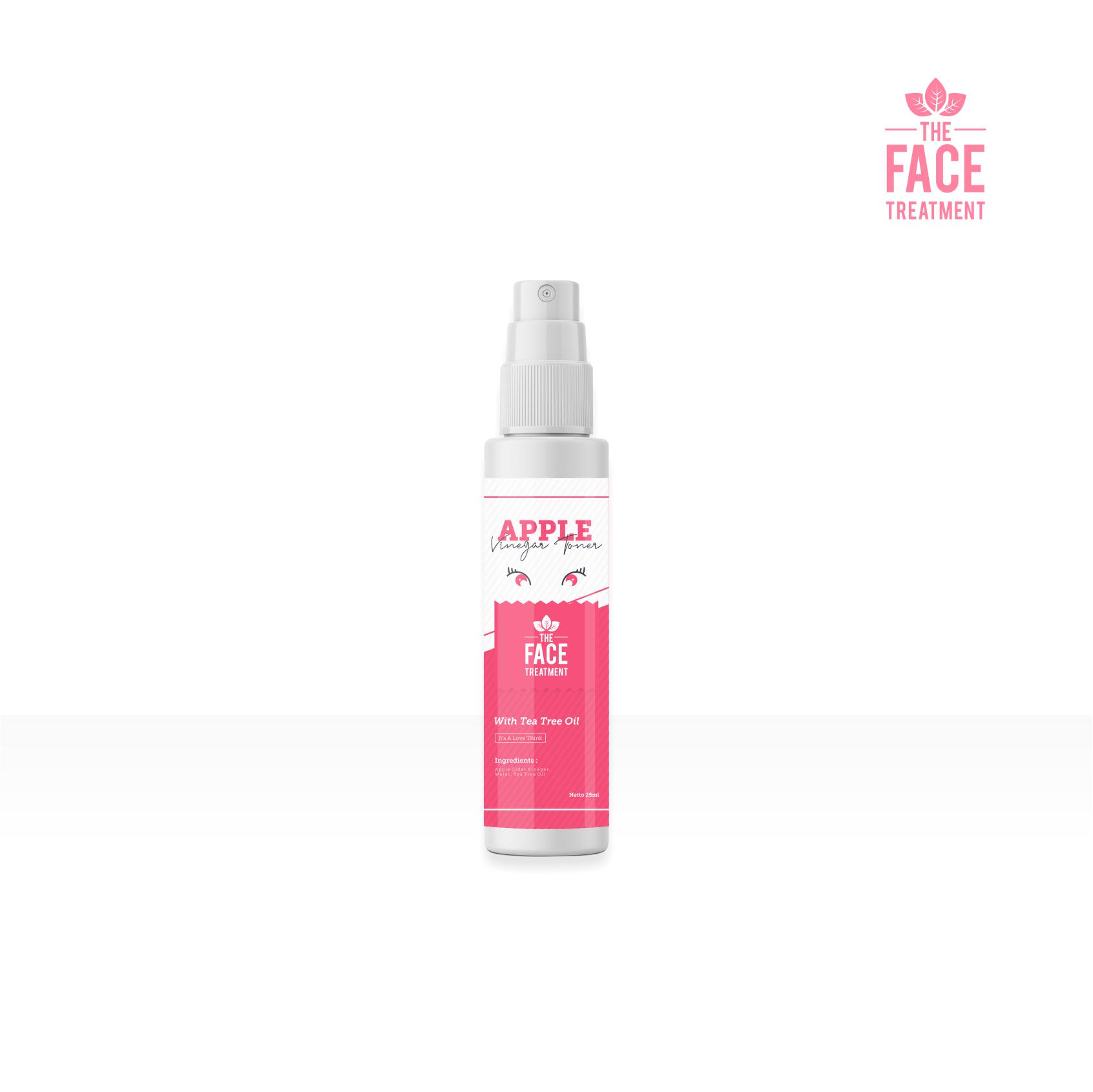 The Face Toner Cuka Apel Extra Tea Tree Oil Penghilang Jerawat 25ml By The Face.