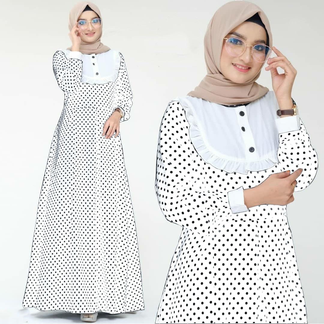J&C Baju Gamis Wanita Muslimah Terbaru 2020 Gamis Busui Bahan Mostcrepe Maxi Juwais