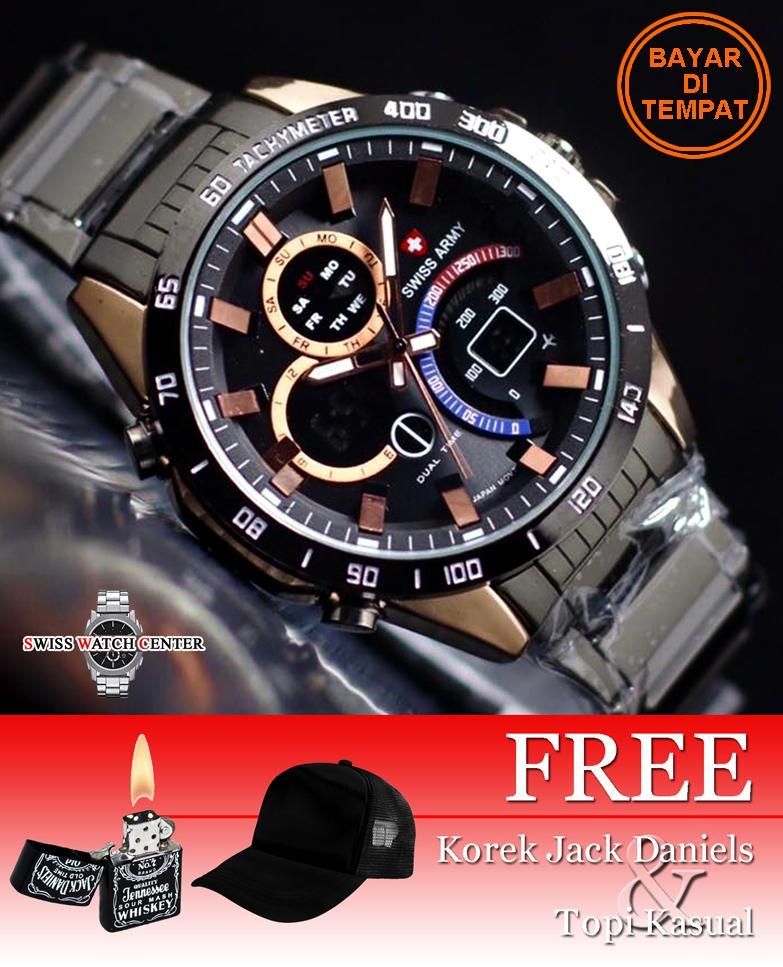 Swiss Army Dual Time Original - Grand-Prix - Jam Tangan Pria - Stainless  Steel ba3f5f56ac