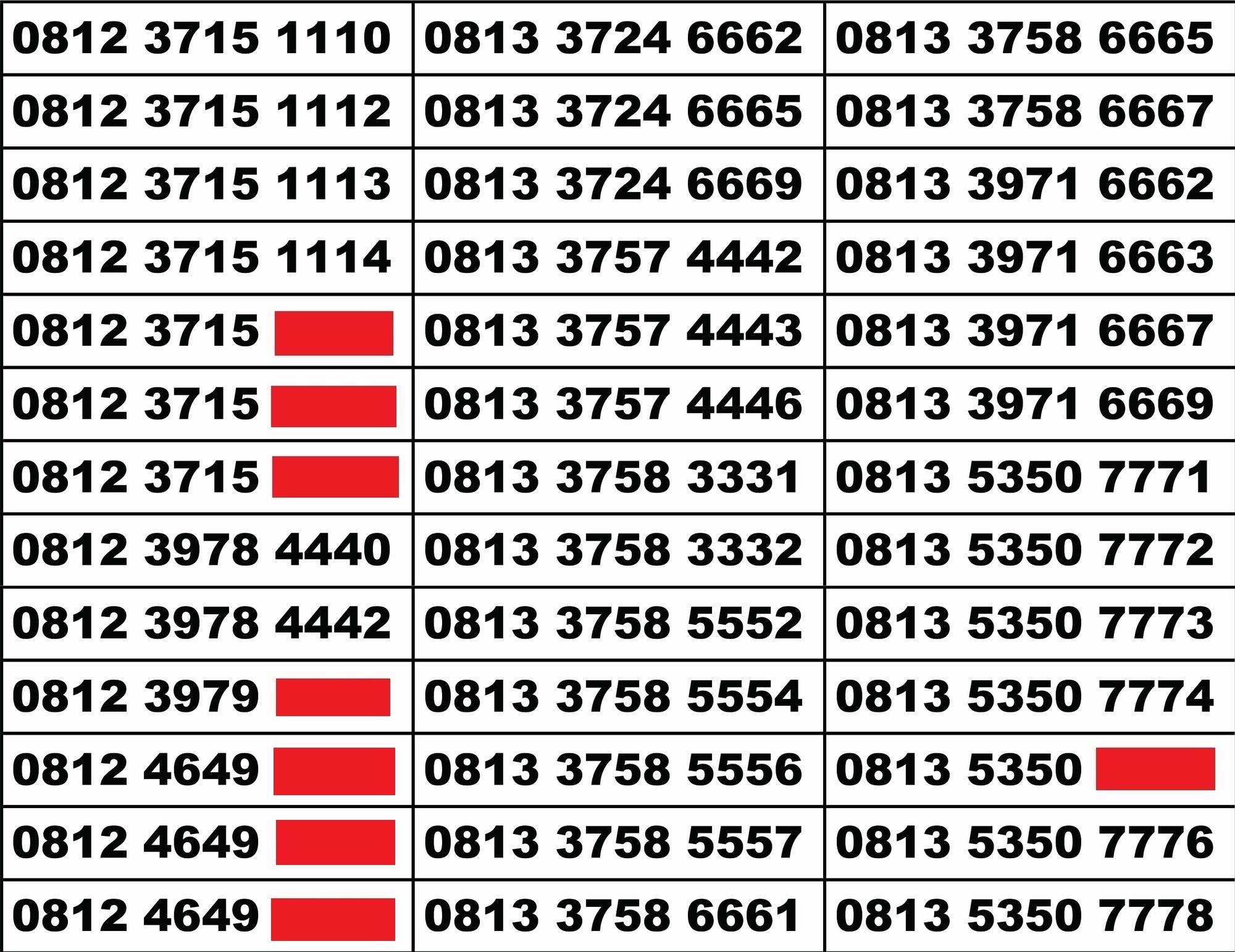 Telkomsel Simpati Nomor Cantik 0812 8888 1615 Daftar Harga Terbaru Source · Kartu perdana nomer cantik