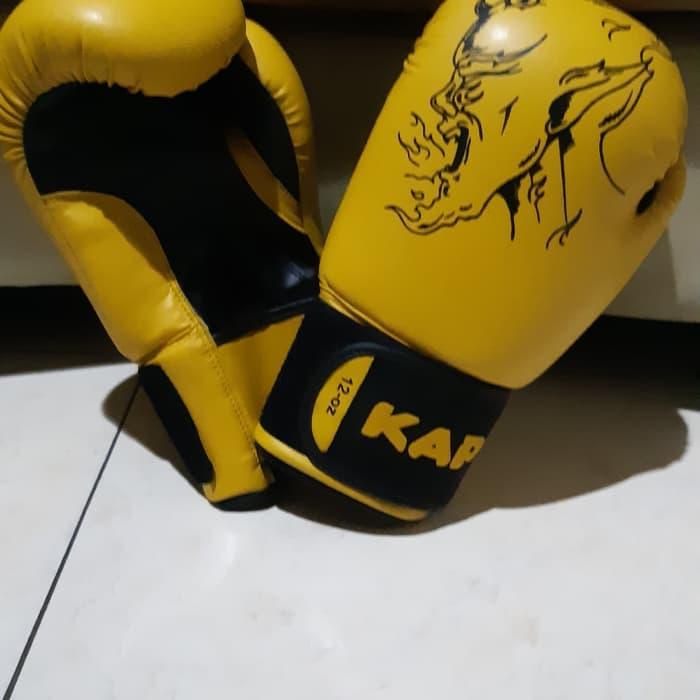 Sarung tinju Kap warna kuning