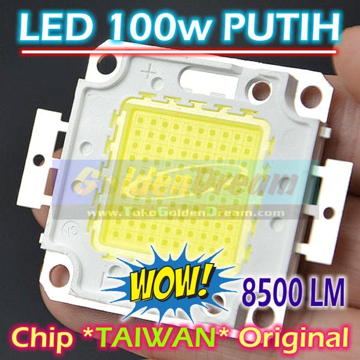 Bayar Di Tempat / High Power LED 100W Taiwan Cold White 31-36V Lampu Hpl