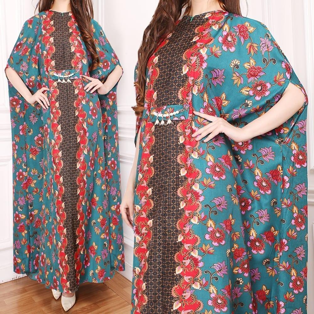Muslim Hijab Store Baju Muslim Wanita Kaftan Batik Mirella Batik Silk DLC Wanita  Muslim Gamis Kaftan 13a99521db