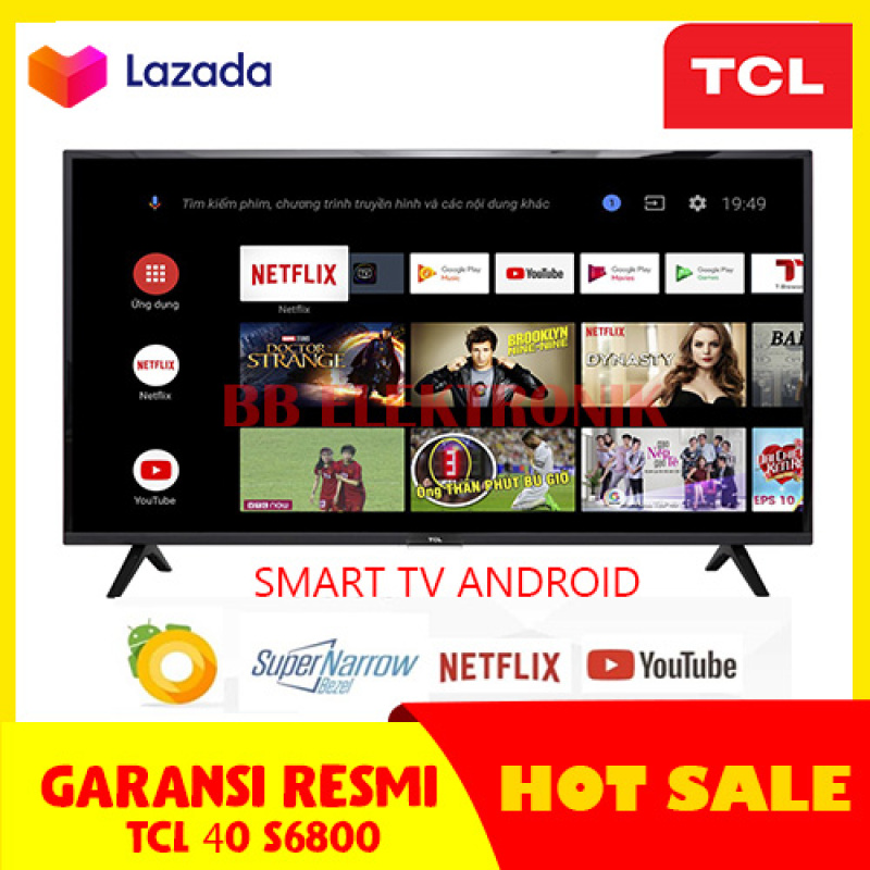 TCL 40 S6800 LED TV 40 INCH SMART TV ANDROID