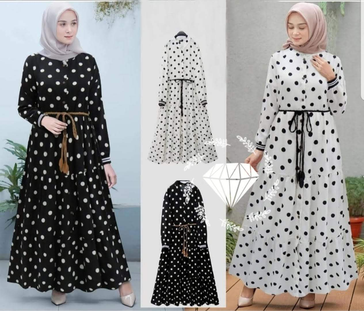 Dress Muslim Gamis Modis Ukuran Kecil Size M Laaqi Clo Lazada Indonesia