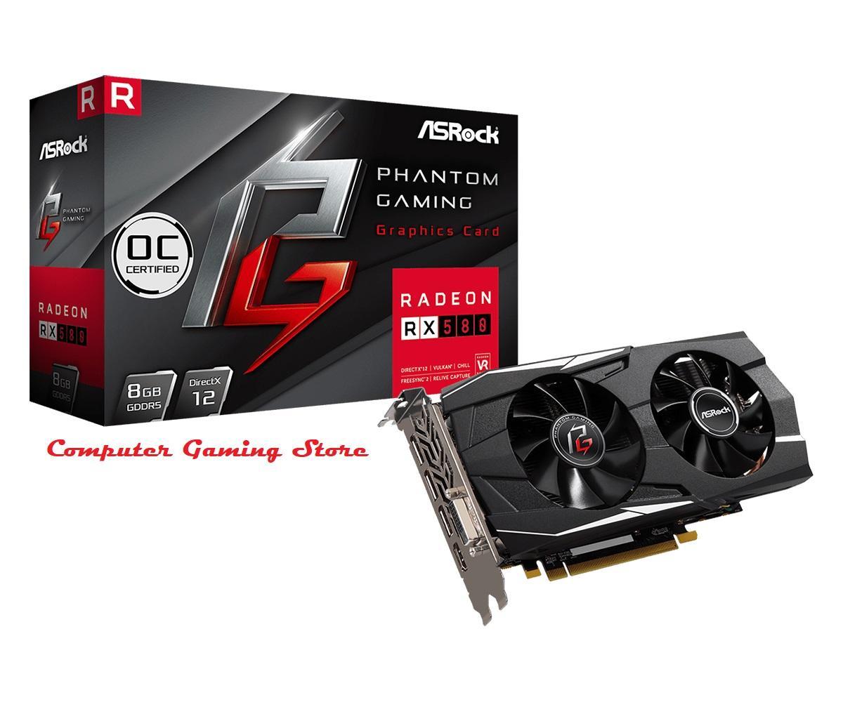 Asrock Radeon RX580 - 8GB Phantom Gaming D OC DDR5 256Bit