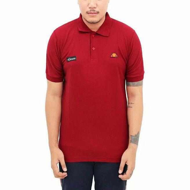 Kaos Polo Ellese Original Merah Murah