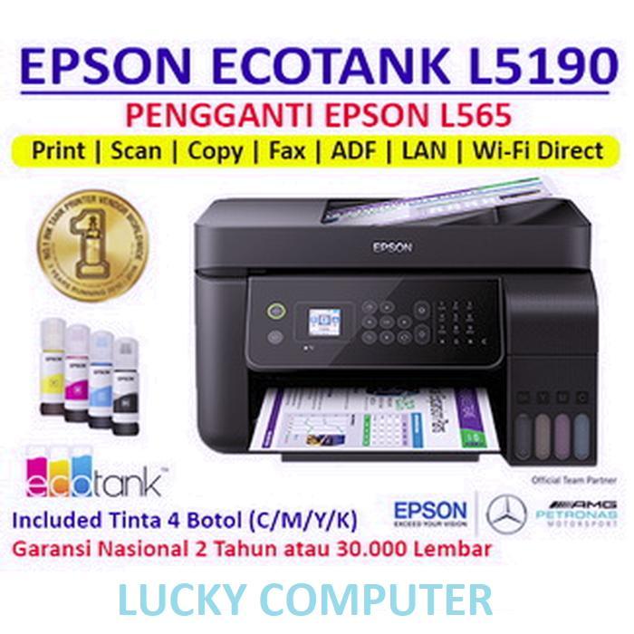Printer EPSON L5190 - Pengganti L565 - Print Scan Copy - Untuk Kertas A4 /F4 ( Letter ) / Legal