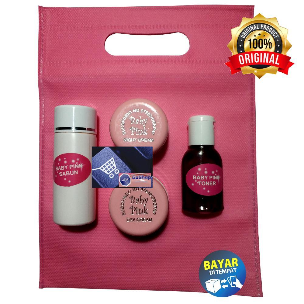 Goshop Cream Baby Pink Sucofindo Super Emboss - 15gr Original Free Pouch By Goshop.