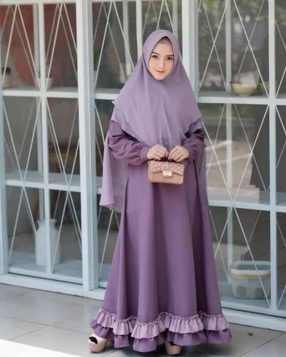 Original Baju Muslim Wollycrepe Busui Baju Gamis Muslim