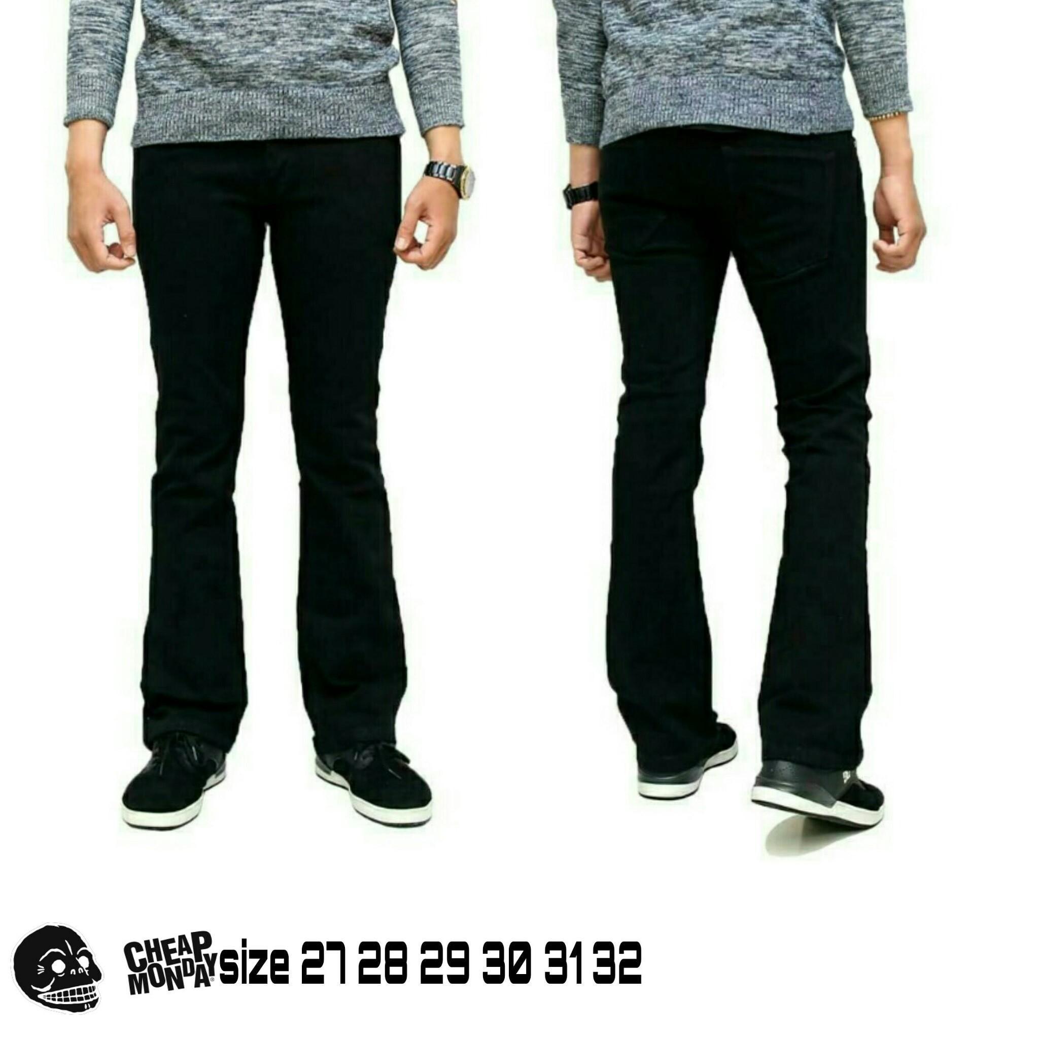 Celana jeans pria cutbray celana panjang cutbray hitam